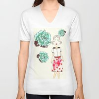 boba V-neck T-shirts featuring Boba by causemepain