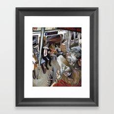 E Train Wolves Framed Art Print
