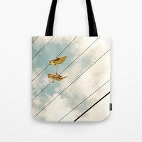shoes Tote Bags featuring Shoes by BlueMoonArt