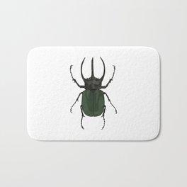 Atlas Beetle Insect Digital Watercolor Bath Mat