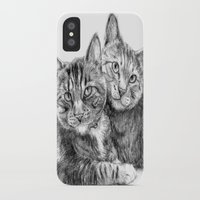 arya stark iPhone & iPod Cases featuring Arya and Dante portrait by Rushelle Kucala Art