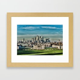 London - Canary wharf Towers Framed Art Print