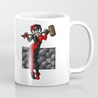 harley quinn Mugs featuring Harley Quinn by Tash O'Toole