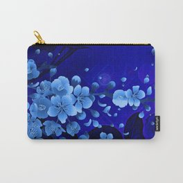 Cherry blossom, blue colors Carry-All Pouch