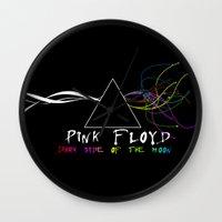 floyd Wall Clocks featuring Pink Floyd by sgrunfo