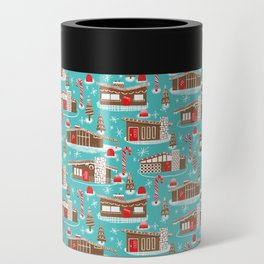 Mid Century Modern Gingerbread Houses Can Cooler