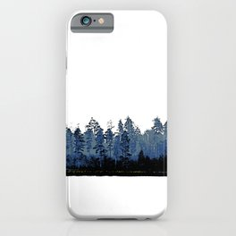 Forest silhouette border iPhone Case