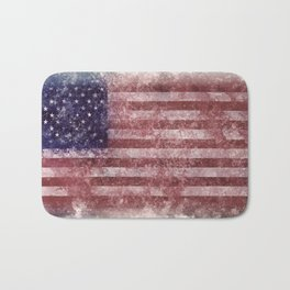 US Flag vintage worn out Bath Mat