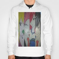 fairy tail Hoodies featuring Fancy Fairy Tail Arrangement One by X21DaysOfMoonX