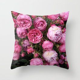 Victorian Roses Throw Pillow