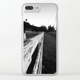 Sonoma Fence Clear iPhone Case