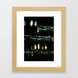 Los Angeles through a pinhole Framed Art Print
