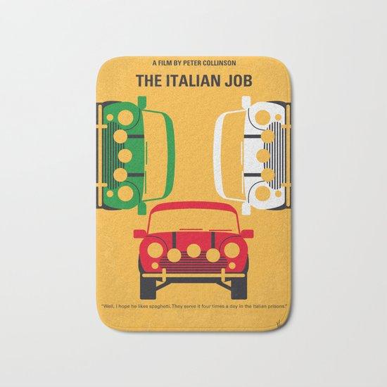 No279 My The Italian Job minimal movie poster Bath Mat
