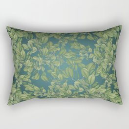 Verdant Leaves Rectangular Pillow