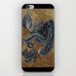 """""""Victorians Riding Dinosaurs - Nomingia"""" iPhone Skin"""