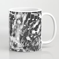 music notes Mugs featuring MUSIC NOTES  by raspaintings