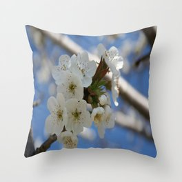 Beautiful Delicate Cherry Blossom Flowers Throw Pillow