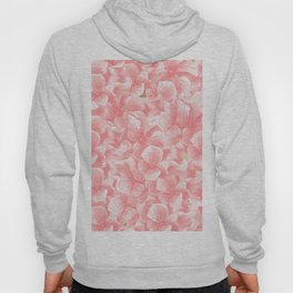 Hand painted coral white faux gold watercolor floral Hoody
