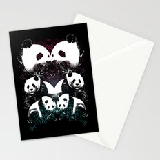 PANDA COLLIDE Stationery Cards