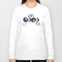 yin yang Long Sleeve T-shirts featuring Yin & Yang by Charity Ryan
