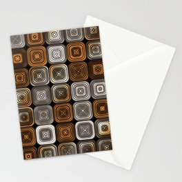 Geometric chocolate pattern Stationery Cards