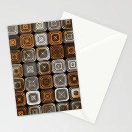 Geometric chocolate pattern Stationery Cards