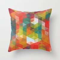 transparent Throw Pillows featuring Transparent Cubism by All Is One