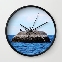Cormorants on the Big Rock Wall Clock