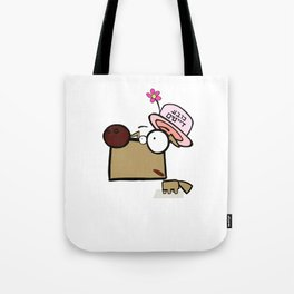 "Dialog with the dog N29 - ""Dating Hat"" Tote Bag"