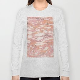 Candy pink marble Long Sleeve T-shirt