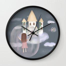 Girl in bubble Wall Clock