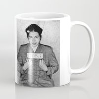 parks Mugs featuring Rosa Parks Mugshot by All Surfaces Design