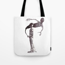 Robot and Shadow Tote Bag