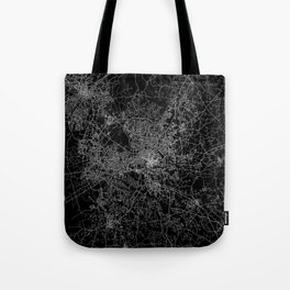 raleigh map north carolina Tote Bag