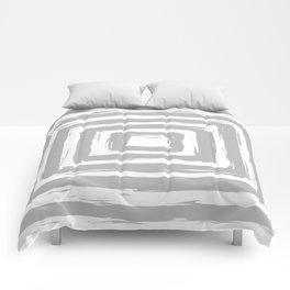 Minimal Light Gray Brush Stroke Square Rectangle Pattern Comforters