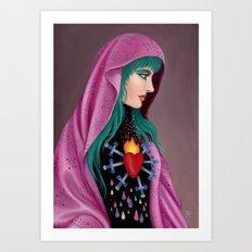 Stabby Rainbow Heart Art Print
