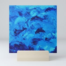 Dolphins Frolicking in the Ocean Mini Art Print