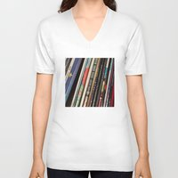 records V-neck T-shirts featuring Records 2 by RMK Creative