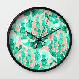 Paddle Cactus Blush Wall Clock