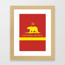 Cali Commie - California Communist Framed Art Print