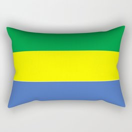 gabon country flag Rectangular Pillow