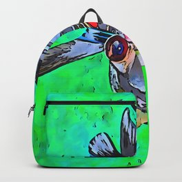 Cartoon Style Blackmoor Goldfish With Gaping Mouth Backpack