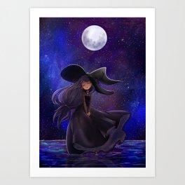Haunted moonlight Art Print