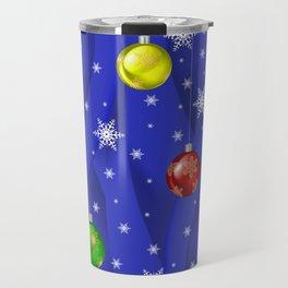 Christmas balls with background Travel Mug