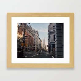 NYC Early Morning Framed Art Print