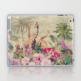 Vintage & Shabby Chic - Tropical Animals And Flower Garden Laptop & iPad Skin