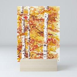 Fall Birch Trees Mini Art Print
