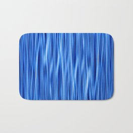 Ambient #8 in electric blue Bath Mat