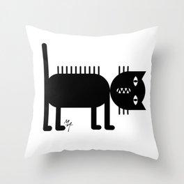 Standing Cat Throw Pillow