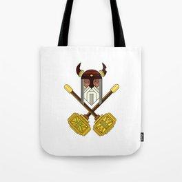 Golden Viking Minimal Art Tote Bag